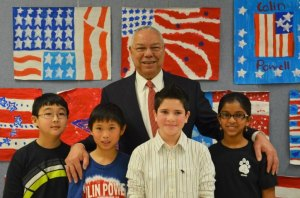 colin powell volunteer
